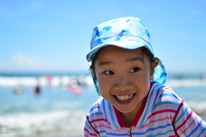 静岡の海で海水浴♪